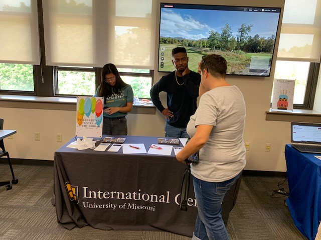 MIzzou's International Center discusses what they do at Geography's Open House