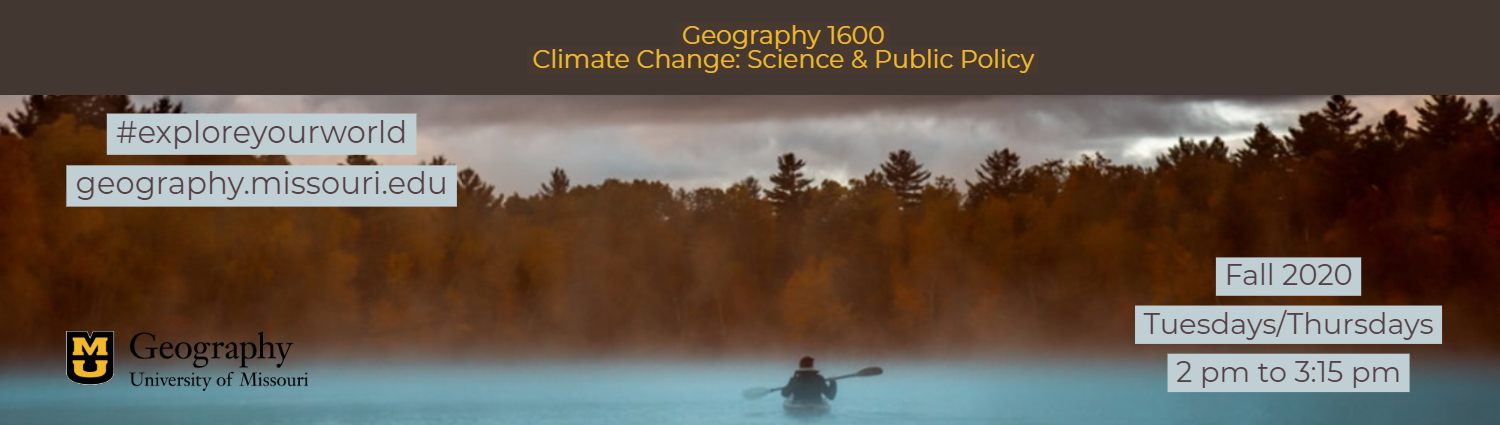 Geography 1600 Climate Change