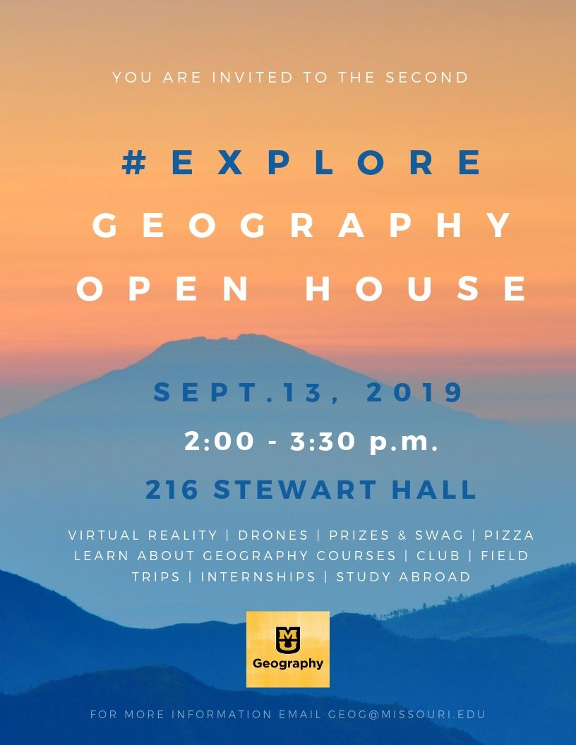 # Explore Geography Open House