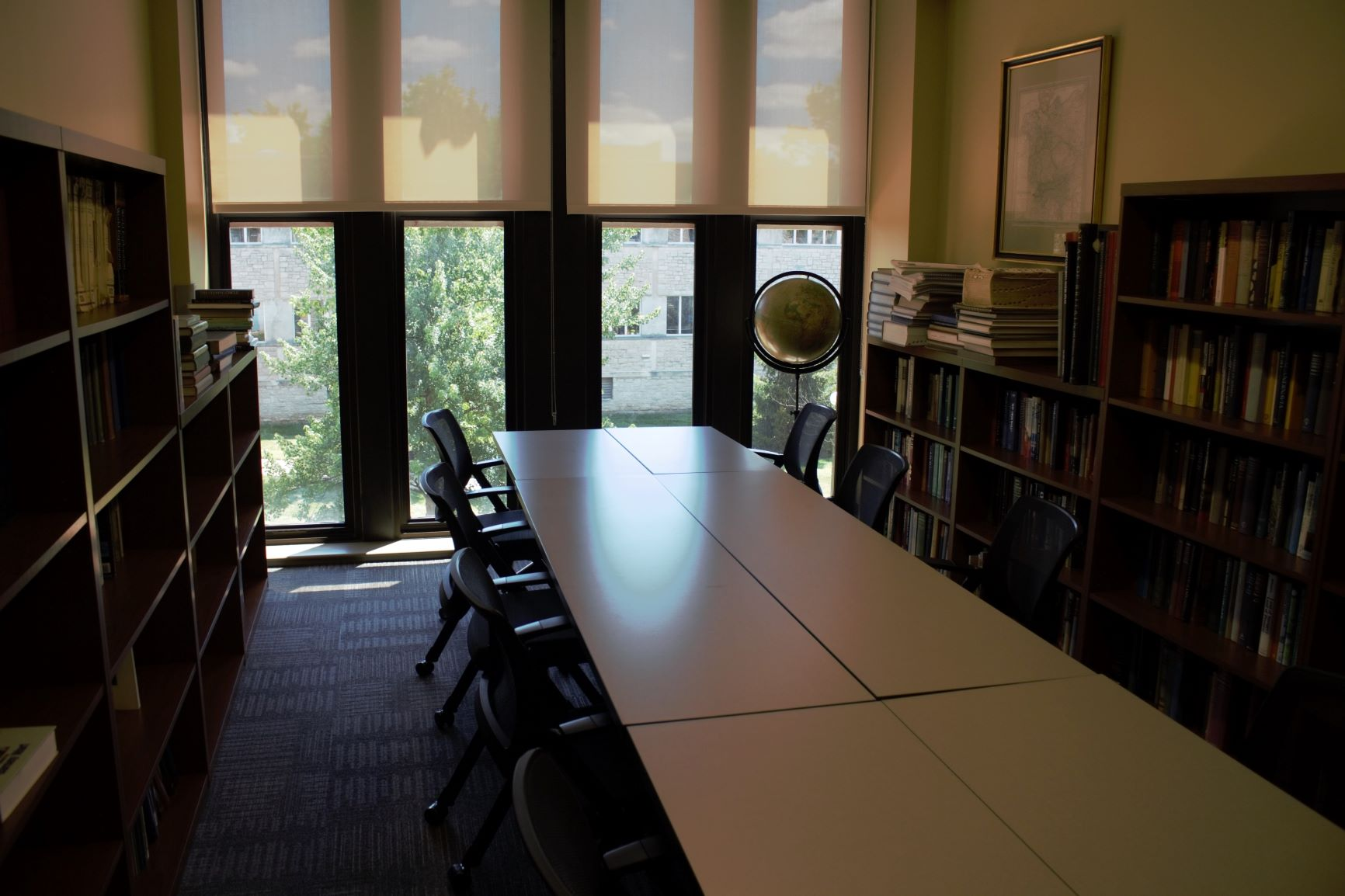 Geography Library: The library holds a large collection of classic and contemporary geographic texts going back more than 100 years. Quiet, comfortable, and cozy, with big windows and lots of natural light, it's the perfect place to find your geo-zen.