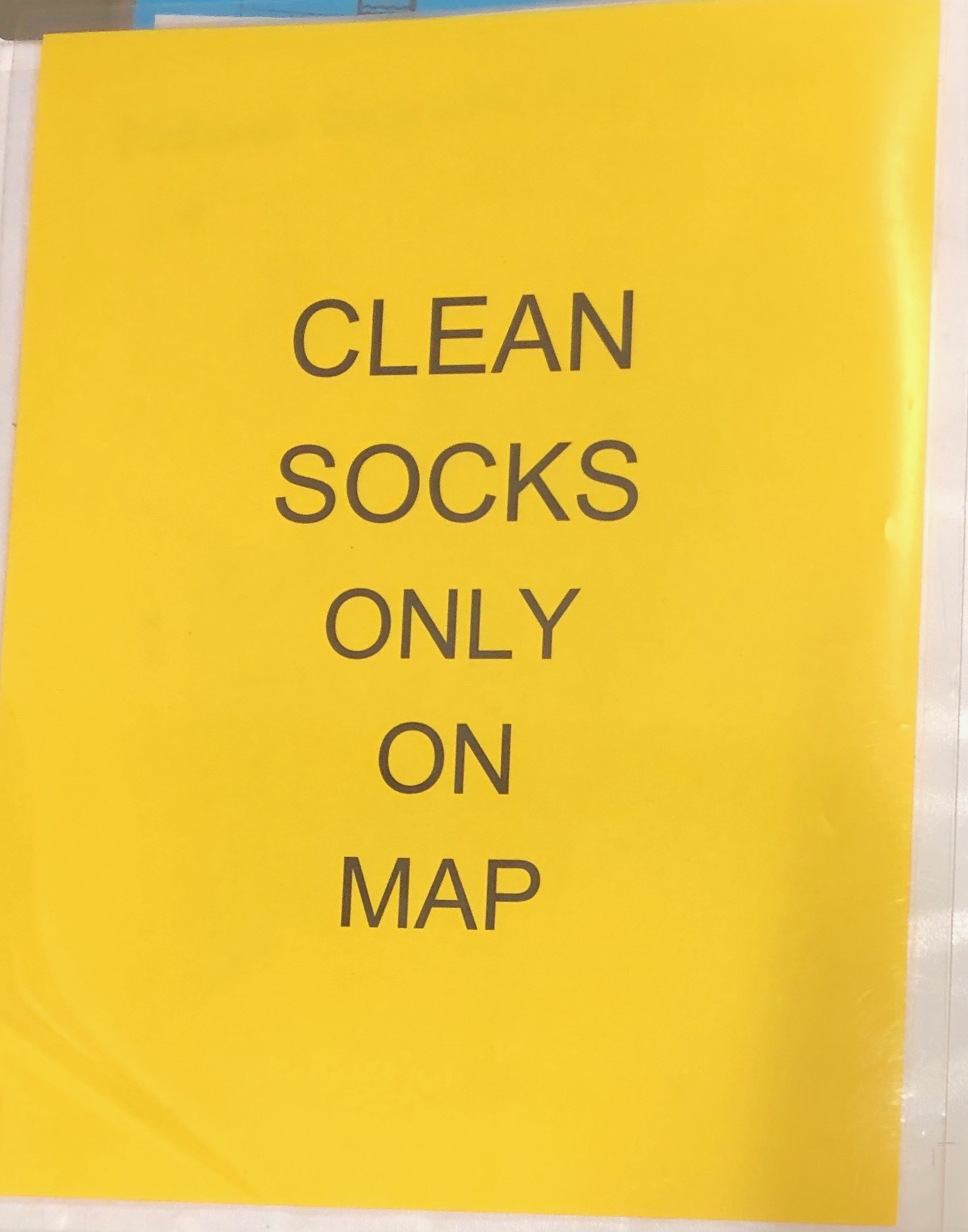 Clean Socks Only Signs