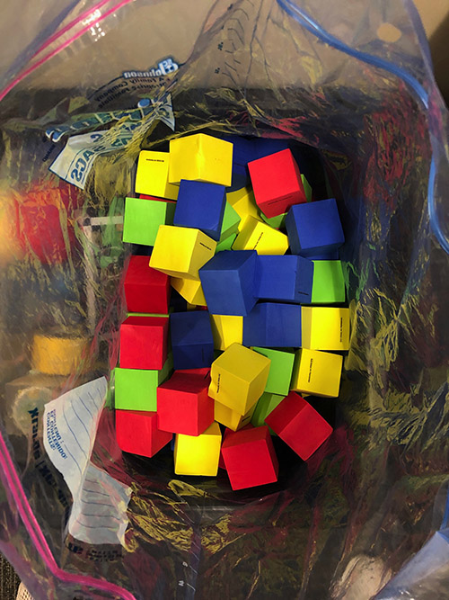 1 bag of foam blocks (by request only)