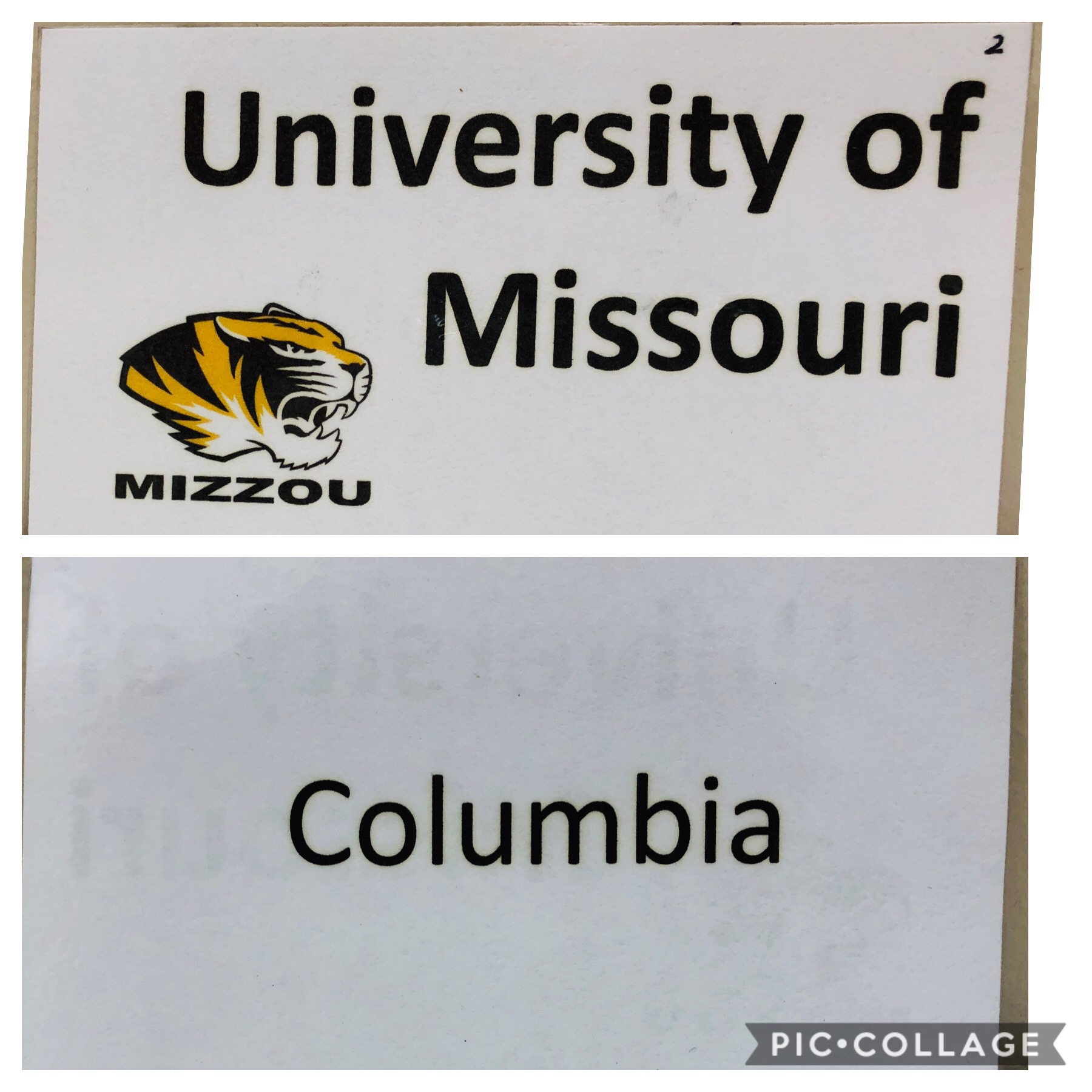One set of laminated Missouri colleges cards