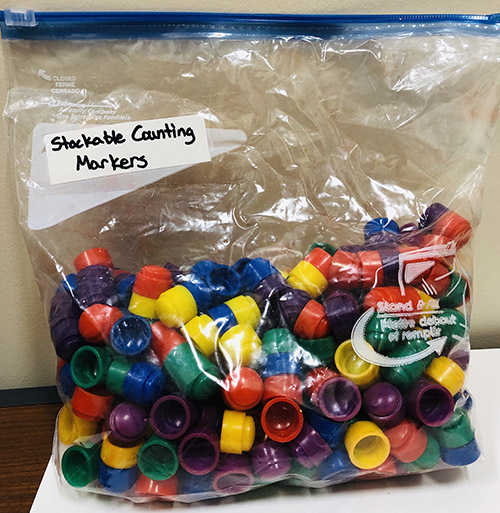 1 bag of stackable counting markers