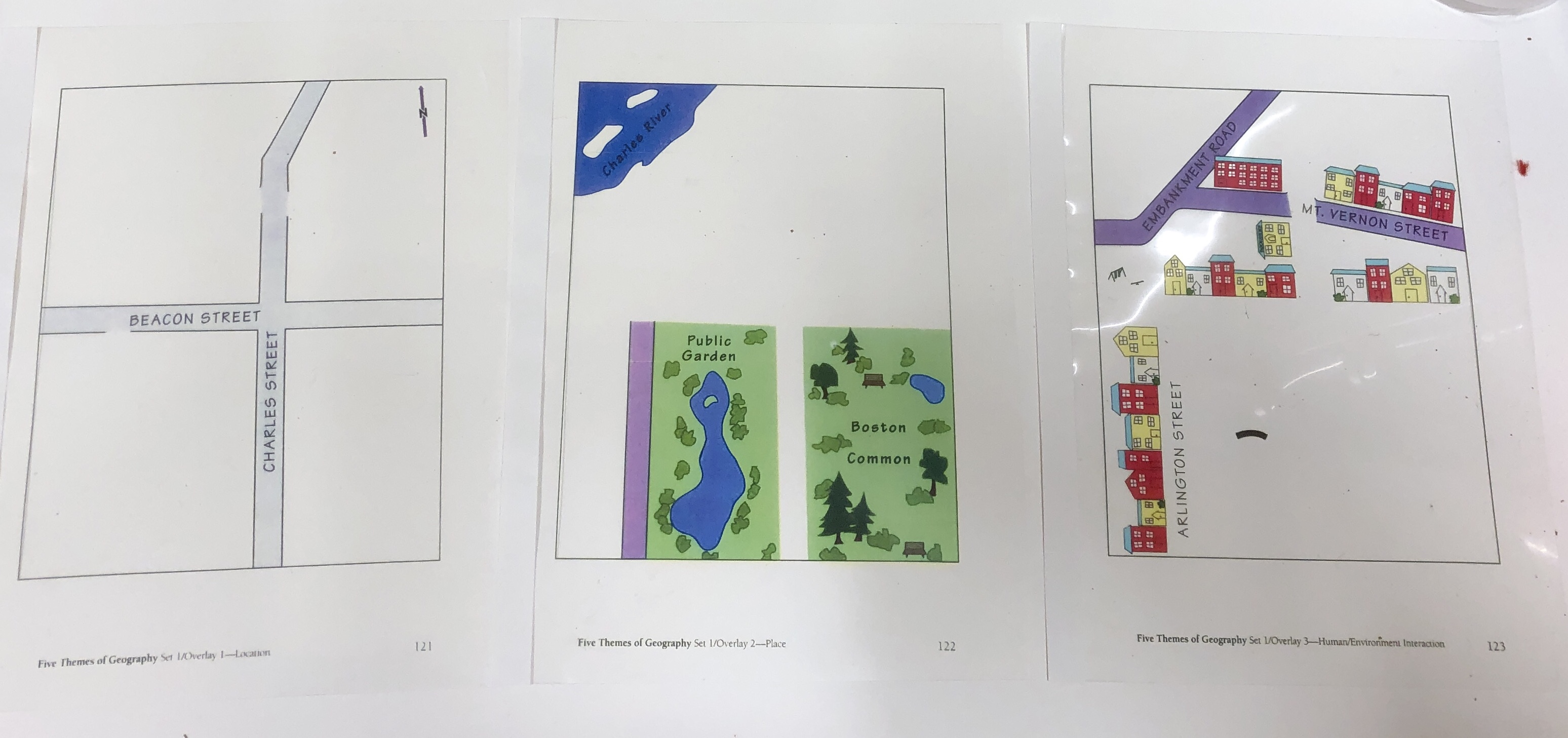3 map transparencies